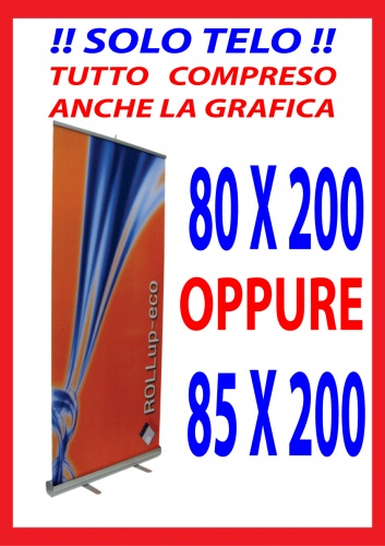 BANNER PER ROLL UP CM. 80X200