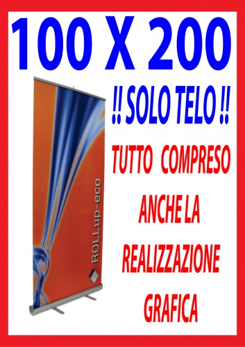 BANNER PER ROLL UP CM. 100X200
