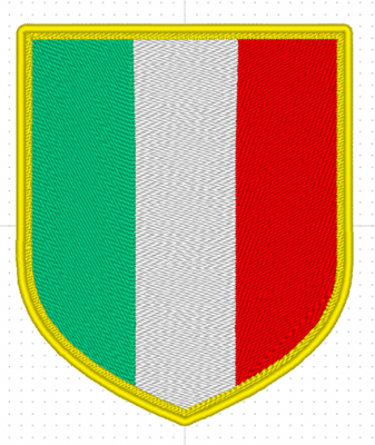 PATCH TERMOADESIVA BANDIERA ITALIANA SCUDETTO