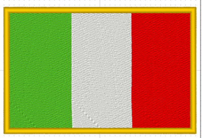 PATCH TERMOADESIVA BANDIERA ITALIANA