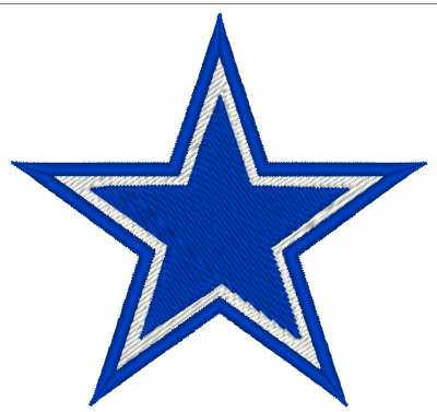 PATCH RICAMATA TERMOADESIVA LOGO DALLAS COWBOY