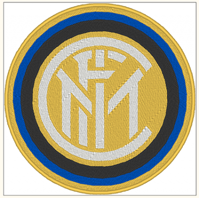 PATCH RICAMATA TERMOADESIVA LOGO INTER