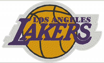 PATCH RICAMATA TERMOADESIVA LOGO LAKERS